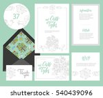 set of templates  for wedding... | Shutterstock .eps vector #540439096