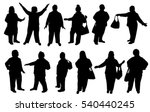 silhouette fat people | Shutterstock .eps vector #540440245