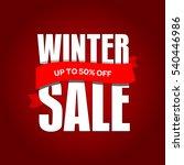 winter sale badge  label  promo ...   Shutterstock .eps vector #540446986