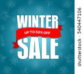 winter sale badge  label  promo ... | Shutterstock .eps vector #540447106