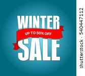 winter sale badge  label  promo ... | Shutterstock .eps vector #540447112