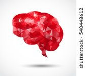 abstract red brain polygon on... | Shutterstock .eps vector #540448612