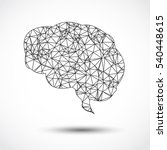 abstract human brain mesh on... | Shutterstock .eps vector #540448615