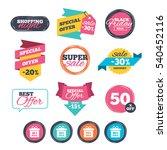 sale stickers  online shopping. ... | Shutterstock .eps vector #540452116