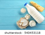 dairy products on wooden... | Shutterstock . vector #540453118