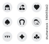 set of 9 editable casino icons. ...