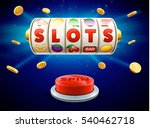 777 slots 3d element isolated... | Shutterstock .eps vector #540462718