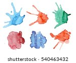 hand painted watercolor...   Shutterstock . vector #540463432