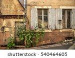 old house facade in vezelay.... | Shutterstock . vector #540464605