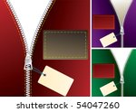 vector zipper with tag in three ... | Shutterstock .eps vector #54047260