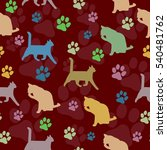Cats Pattern Background...