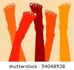 healthy feet vector. | Shutterstock .eps vector #54048928