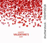valentines day beautiful... | Shutterstock .eps vector #540493018