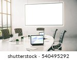 conference room with business... | Shutterstock . vector #540495292