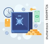 banking deposits. bank...   Shutterstock .eps vector #540499726