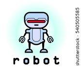 robot logo   Shutterstock .eps vector #540505585