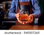 hands of a bartender at bar... | Shutterstock . vector #540507265