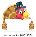 a pilgrims hat thanksgiving... | Shutterstock . vector #540511576