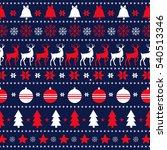 decorative seamless reindeer... | Shutterstock .eps vector #540513346