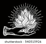 ornate old fashioned hand with... | Shutterstock .eps vector #540515926
