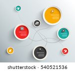 3d circles with shadows and... | Shutterstock .eps vector #540521536