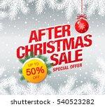 christmas sale banner  vector... | Shutterstock .eps vector #540523282