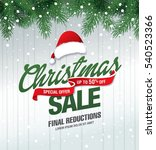 Christmas Sale Banner  Vector...