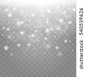 winter with snow in transparent ... | Shutterstock .eps vector #540539626