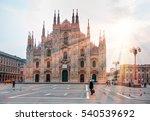 duomo di milano  milan... | Shutterstock . vector #540539692