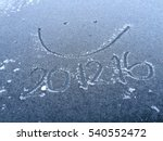 smile frosted by hand writing... | Shutterstock . vector #540552472