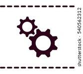 gear icon  flat design style | Shutterstock .eps vector #540562312