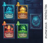 set spell cards of fiery gaze ... | Shutterstock .eps vector #540562786