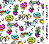 seamleaaa pattern with... | Shutterstock . vector #540566596