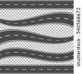 winding curved road or highway... | Shutterstock .eps vector #540568672