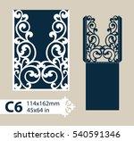layout congratulatory envelope... | Shutterstock .eps vector #540591346