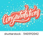 congratulations. greeting... | Shutterstock .eps vector #540592042