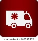 flat  icon of ambulance | Shutterstock .eps vector #540592492