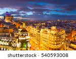 skyline of beautiful madrid at... | Shutterstock . vector #540593008