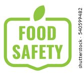 food safety badge  logo  icon.... | Shutterstock .eps vector #540599482