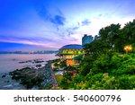 dongbaek island and gwangan...   Shutterstock . vector #540600796