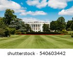 Small photo of WASHINGTON D.C. - AUGUST 3, 2016 - The White House is the official residence and principal workplace of the President of the United States, located at 1600 Pennsylvania Avenue NW in Washington, D.C.