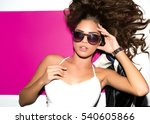 bright positive fashion studio... | Shutterstock . vector #540605866
