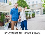 shopping couple with annoyed... | Shutterstock . vector #540614608