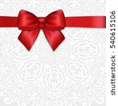 shiny christmas holiday red... | Shutterstock . vector #540615106