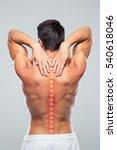 back view portrait of a man... | Shutterstock . vector #540618046