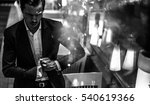 upset caucasian man taking... | Shutterstock . vector #540619366