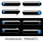 buttons for web   blue glass | Shutterstock .eps vector #54062071