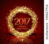 2017 happy new year red and... | Shutterstock . vector #540627916