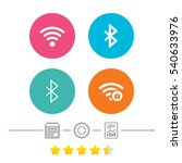 wifi and bluetooth icons.... | Shutterstock .eps vector #540633976