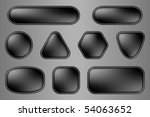 buttons for web  black... | Shutterstock .eps vector #54063652